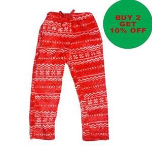 Boys Girls Christmas Velvet Fleece Joggers Trousers Pyjama Bottoms [DT-06]