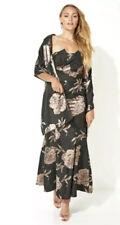 Vestido de noche 💞 Roman Originals cola de pescado de gala Chal Jacquard Bnwt Talla 20 💞