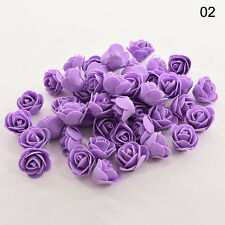 50Pcs Foam Fake Flowers Artificial Roses For Bouquet Wedding Table Centerpieces