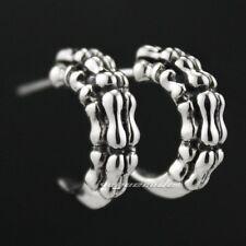 925 Sterling Silver Dragon Claw Mens Biker Rocker Punk Stud Earring 8M015B