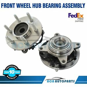 AdecoAutoParts/© Two Front Wheel Bearing and Hub Assembly WH550220 550220 for Expedition F150 Lincoln Navigator