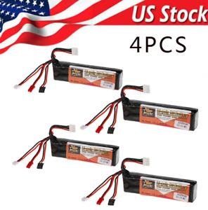 4Pcs 2200mAh 11.1V LiPo Battery for Futaba JR Walkera Devo7/10 WFLY Transmitter