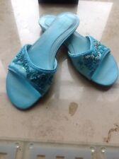 M&S Ladies Slide/Slip Ons Size 5 Turquoise BNWT