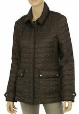 NEW BURBERRY CURRENT PEWTER QUILTED LEATHER TRIM PADDED JACKET XL XLARGE