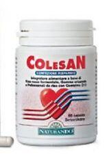 COLESAN per la riduzione del colesterolo. Flacone da 60 cps per 2 mesi di cura