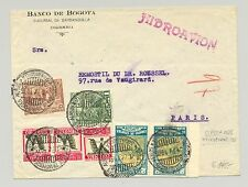 Colombia 1935 Flight Cover Barranquilla to Paris, France Scadta Hydroplane