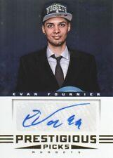 2012-13 Prestige Prestigious Picks Signatures Basketball Card #64 Evan Fournier