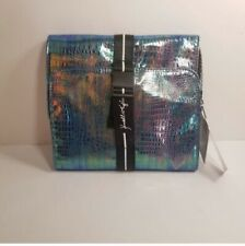 Kendall + Kylie Blue Iridescent Hanging Beauty Case NWT