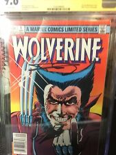 Wolverine 1 CGC SS 9.6 Frank Miller Signed & Lee 9/1982 Limited Series Wh Pages