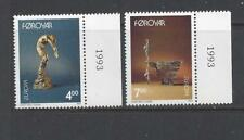 FAROE ISLANDS - 252 - 253 - MNH - 1993 - SCULPTURES BY HANS PAULI OLSEN