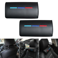 Pillow Leather Cushion Pad Black Fits For BMW Car Seat Head Neck Rests Foam Hot