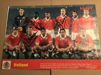 Niederlande 🇳🇱 WM 1998? KICKER Mannschaftsfoto original signiert