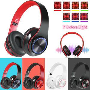 Wireless Headphones Super Bass Bluetooth Foldable Stereo Earphones Headsets Mic