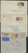 IRAQ 1930s THREE AIR MAIL COVERS FRANKED KING FAISAL I KING GHAZI TO GERMANY & C