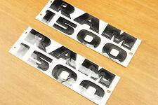 Auto OEM Dodge Ram 1500 Black Logo Lettering Nameplate Emblem Badge 3D Sticker
