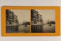 Italia Venezia Palais Sur Le Grand Canal c1900 Foto Stereo Vintage Analogica