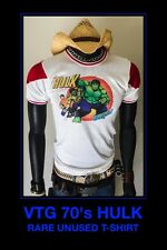 RARE 70s UNUSED HULK Avengers MARVEL Thor Movie Mego Palitoy Art vtg NOS T-Shirt