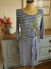 Jersey Scoop Neck Tunic Striped Dresses for Women