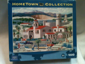 HERONIM Hometown Collection SCOTTY'S CASTLE USA Flag 1000 pc Jigsaw PUZZLE New