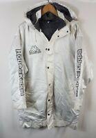 Vintage Robe Di Kappa Mens Coat Jacket M L Medium Large 90s Hi Vis Fleece Lined