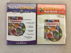 Prentice Hall Chemistry TeacherExpress+ExamView Test Bank CD-ROM Sets NEW