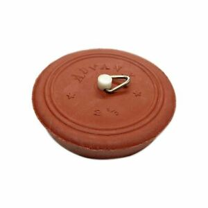 Red Pinned Rubber Plug Suits 60~65mm Sink, Basin and Bath 62070