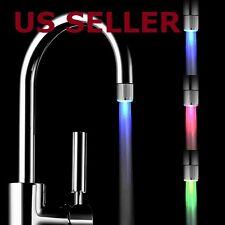 Temperature Sensor 3 Color Kitchen Water Tap Faucet RGB Glow Shower LED Light
