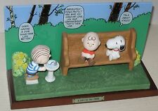 "Charlie Brown, Linus & Snoopy ""A Day in the Park"" Ltd Ed Figurine by Flambro MIB"