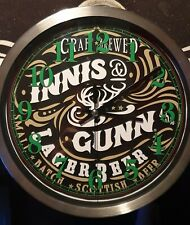 Innis and Gunn lager beer Clock man cave bar