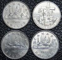 1983 - 86 Dollar $1.00 - Lot of 4 pcs - NCC