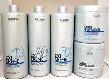 MAXIMA OXICREME HAIR COLORING/BLEACHING PEROXIDE CREME& Blue/White POWDER Deal