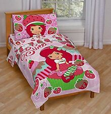 "Strawberry Shortcake ""Sweet Cupcake"" Toddler Bed Set, New, Free Shipping"