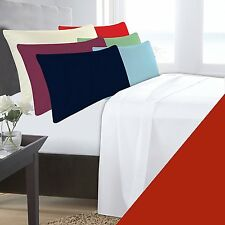 Letto SINGOLO ROSSO BASE VALANCE Sheet in Policotone 180 Thread Count Percalle