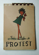RARE Book - PROTEST - by Elsa Bailey - 1963 - Civil Equal Women's Rights Peace