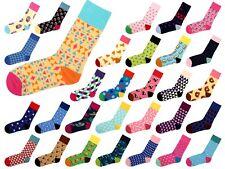 Print Socken Bunt Strümpfe Motiv-Socken Hipster Socks Damen Herren Gr. 36-39