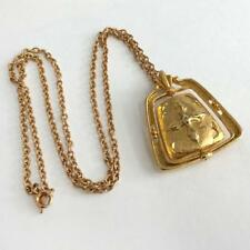 Avon: Gold plated textured chain, signed Avon and gold plated embelli. Lot 62G
