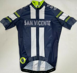 Mens San Vicente CYCLING SHORT SLEEVE JERSEY in Blue/Green Made in Italy by GSG