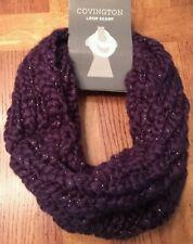 Womens covington loop scarf navy mosaic roving yearn cowl shimmer winter warm