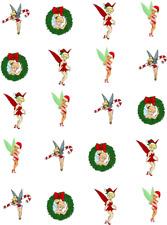 Christmas Tinkerbell Waterslide Nail Decals/Nail art