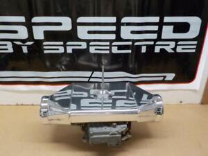 SPECTRE #9804 Fabricated Sheet Metal Polished Aluminum AIR INTAKE DUAL PLENUM