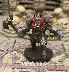 Orc D&D Miniature Dungeons Dragons Pathfinder Menagerie Fighter Barbarian 13