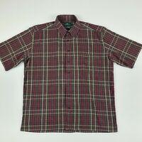 RODD & GUNN Men's Size L Short Sleeve Button Front Shirt Plaid Check - GH2N