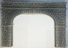 """TUNNEL PORTAL DBL TRACK STONE BLOCK """"O"""" SCALE CAST FOAM ATHERTON SCENICS (#6262)"""