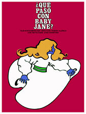 Que paso con baby jane? Red Film POSTER.Graphic Design. Wall Art Decoration.3038