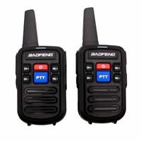 UK Stock Baofeng BF-C50 Pair of 2W PMR446 Radios - Option Programming and Case