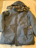 EDDIE BAUER GOOSE DOWN PARKA MENS SIZE M with REMOVABLE Hood