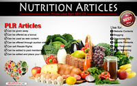 500+ PLR Articles on Nutrition Niche Private Label Rights