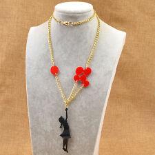 Kawai fille avec ballon charme collier pendentif femmes lady élégant bijoux 1pc