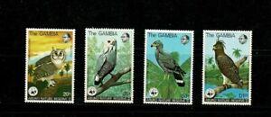 U0501 GAMBIA 1978 Abuko nature reserve -  Birds of prey  MH
