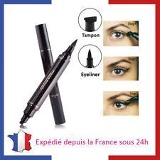 Eyeliner Oeil de Biche Noir Waterproof Feutre Epais et Tampon Virgule Pin-up